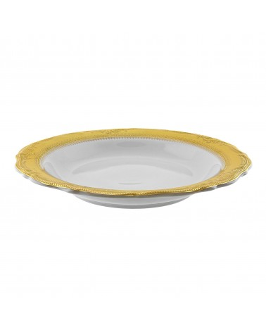 "Vanessa Gold  9"" Rim Soup (8 oz.)"