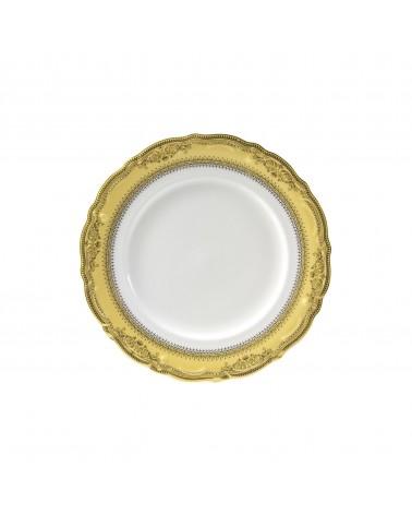 "Vanessa Gold  7.5"" Salad Dessert Plate"