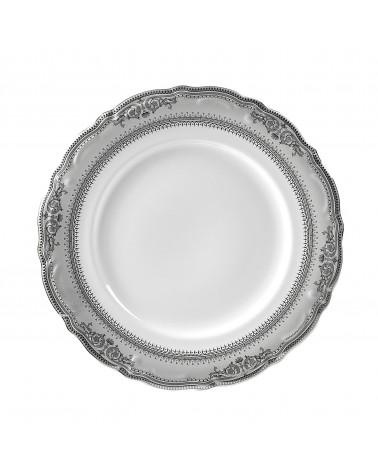 "Vanessa Platinum  10.5"" Dinner Plate"