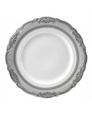 "Vanessa Platinum  12"" Charger Plate"