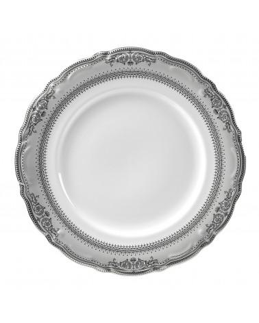 "Vanessa Platinum  12"" Charger Plate"