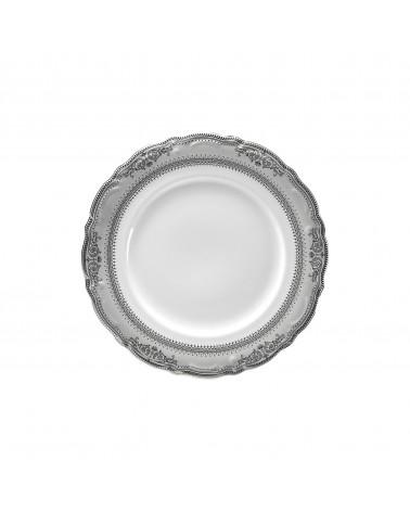 "Vanessa Platinum  7.5"" Salad Dessert Plate"