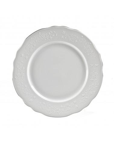 "Vine Silver Line  11"" Dinner Plate"