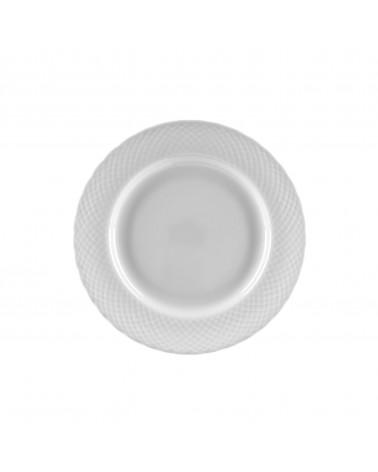 """White Wicker 7.5"""" Salad Dessert Plate"""