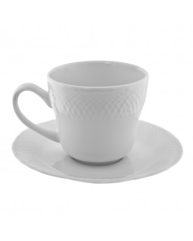 White Wicker Cup Saucer (8 oz.)