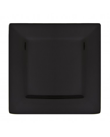 "Whittier 12"" Black Square Plate"