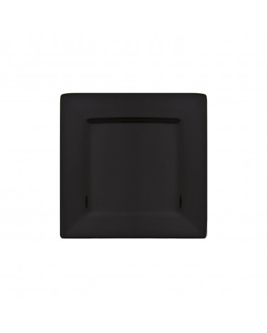 "Whittier 6"" Black Square Plate"