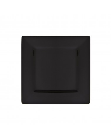"Whittier 7.5"" Black Square Plate"