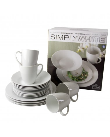 Simply White 16 pc. Rounds