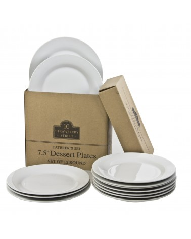 Caterer's Set of 12 Salad/Dessert Plates