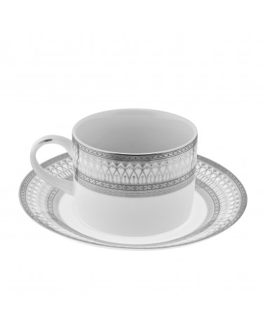 Iriana Silver Can Cup/Saucer