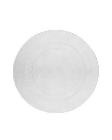 Hammered Glass Dinner Plate