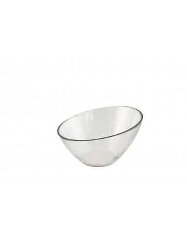 "Hammered Glass Angled 7"" Bowl"