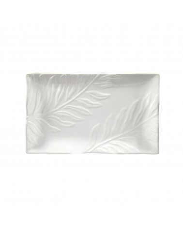 Boca Embossed Rectangular Platter 14""
