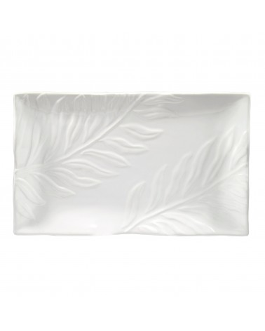 Boca Embossed Rectangular Platter 18""