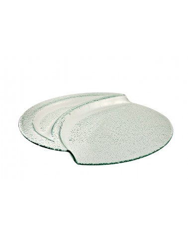 Deco Glass  Chip & Dip Platter