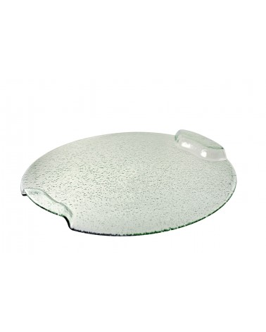 Deco Glass  Bent Handle Platter