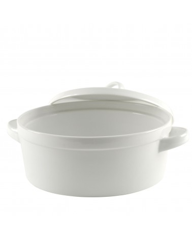 Delano White Round Bakeware With Lid 12""