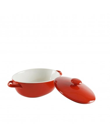 Sienna Red Oval Bakeware With Lid 7""