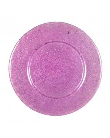 Luxor Amethyst Glass Charger