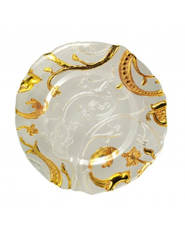 Luxor Clear & Gold Glass Charger