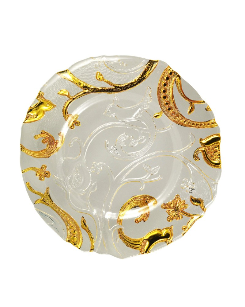 This Placesetting Is To Die Gold Charger Champagne: Giardano Gold Glass Charger