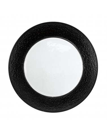 Colored Rim Black Rim Glass Charger Plate