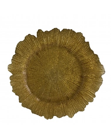 Sponge Gold Glass Charger Plate