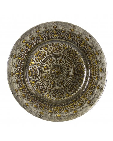 Monaco Silver Gold Glass Charger Plate
