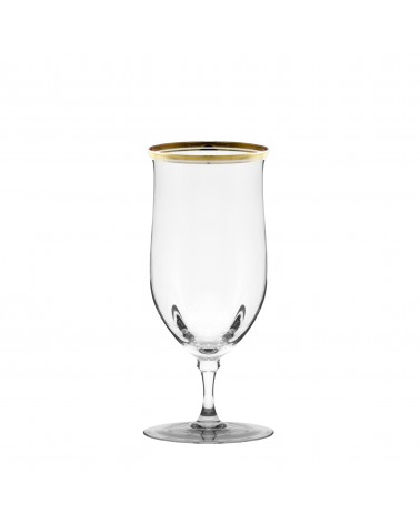 Windsor Water Goblet W/Gold Band