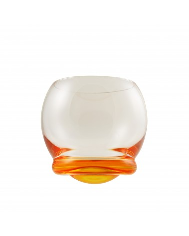 Bell Wobble Glass Orange