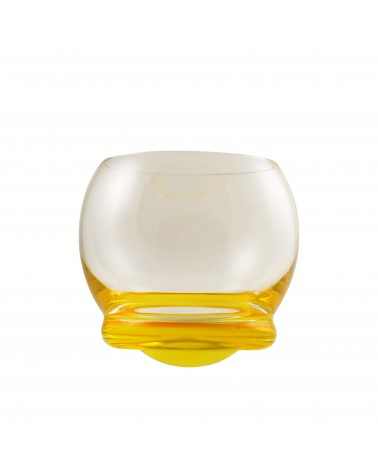 Bell Wobble Glass Yellow