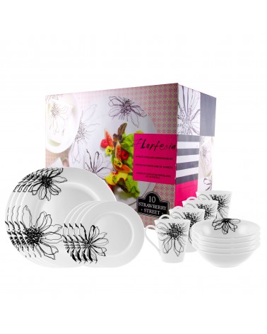 Flortenia 16 Pc Round Dinnerware Set