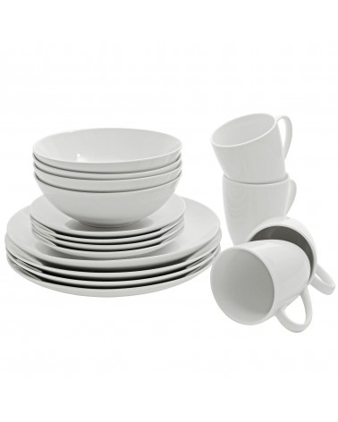 Simply White 16 Pc Coupe Dinnerware Set