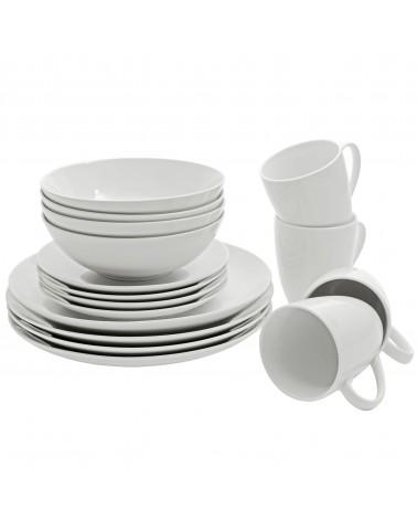 Simply White 16 Pc Coupe Dinnerware Set