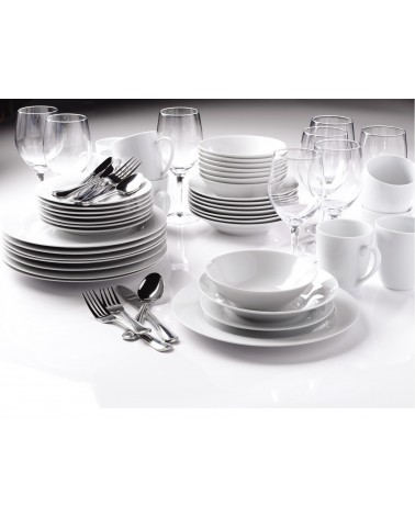 SAM Entertaining Sets 80 Pc Round Dinnerware Set