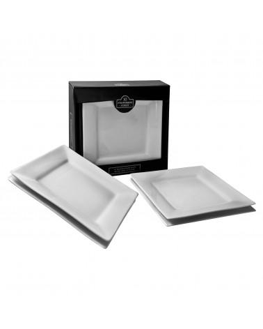 Square Box Sets - Black Dinner Plate Set Of 4