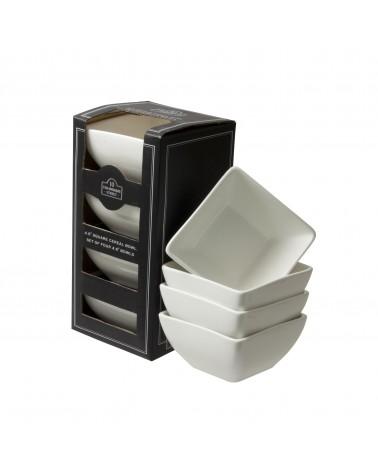 Square Box Sets - Black Square Bowl Set Of 4