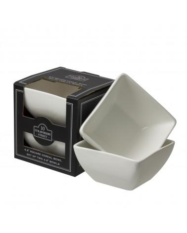 Square Box Sets - Black Square Bowl Set Of 2