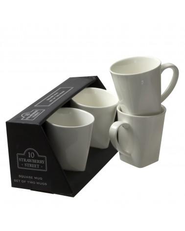 Square Box Sets - Black Square Mug Set Of 4
