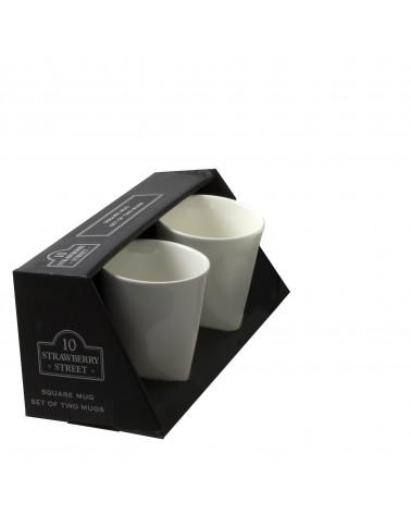 Square Box Sets - Black Square Mug Set Of 2
