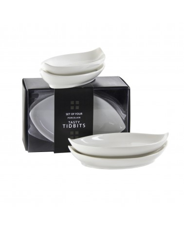 Party Packs Oval Tid Bit Tray Set Of 4