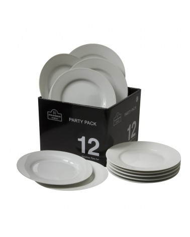 Party Packs Round Bread & Butter Plate Set Of 12