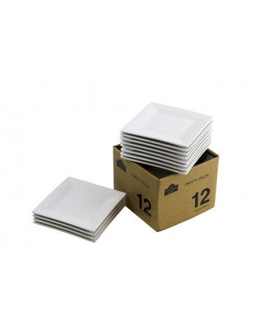 Party Packs Square Bread & Butter Square Set Of 12
