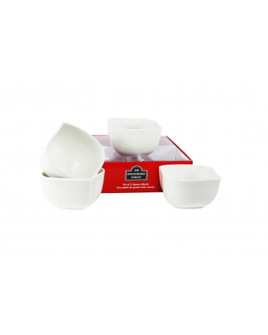 Tid Bit Sets Red Box Square Bowl Set Of 4