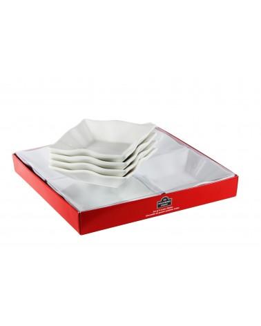 Tid Bit Sets Red Box Lotus Dish Set Of 4