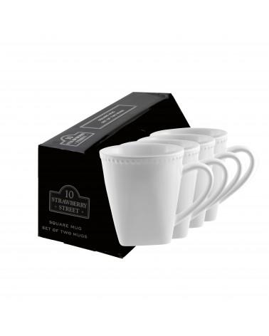 Beaded Square Beaded Mug Set Of 4