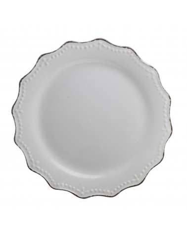 Oxford Dinner Plate - Vintage White