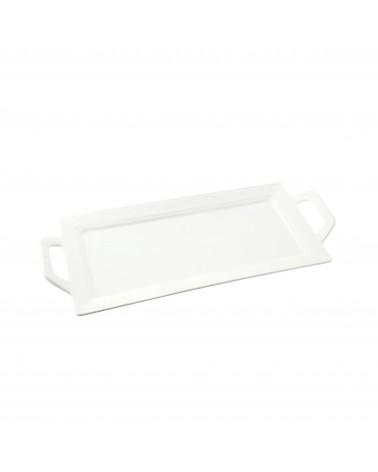 Whittier Embossed Rectangular Handled Platter