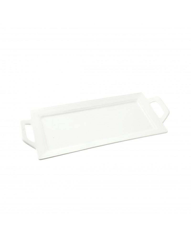 Whittier Embossed Rectangular Handled Platter